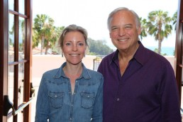 Photograph of Lies meeting Jack Canfield